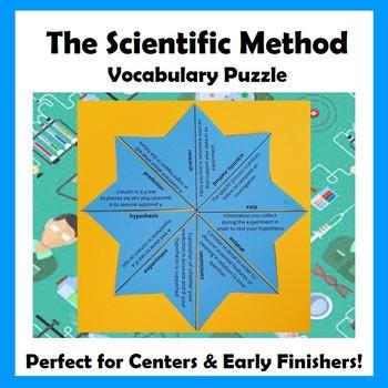 The Scientific Method Vocabulary Puzzle