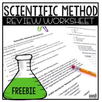 Scientific Method Worksheet Answer Key Included By The Trendy