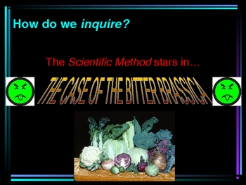 The Scientific Method in Action: The Case of the Bitter Brassicas
