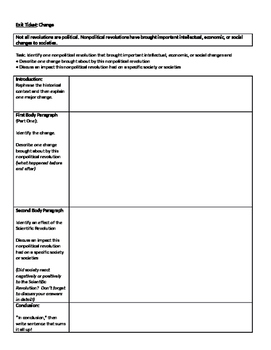 The Scientific Revolution Worksheet Only