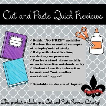 The Scientific Revolution Cut and Paste Review--NO PREP