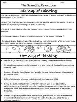 The Scientific Revolution: Graphic Organizer