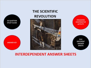The Scientific Revolution: Interdependent Answer Sheets Activity