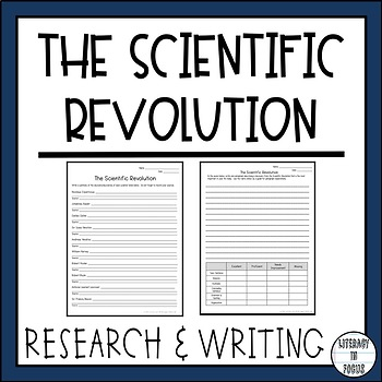 The Scientific Revolution - Research, Writing, Assessment, & Word Search