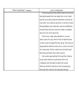 """The Scientist"" - Romanticism Lyric Analysis"