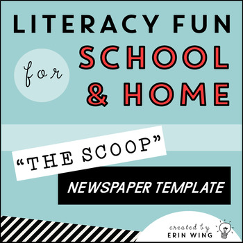 The Scoop Editable Student Newspaper Template By Erin Wing  Tpt