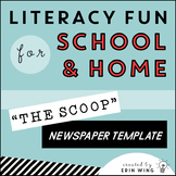 The Scoop: Editable Student Newspaper Template