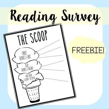 The Scoop: FREE Reading Interest Survey!