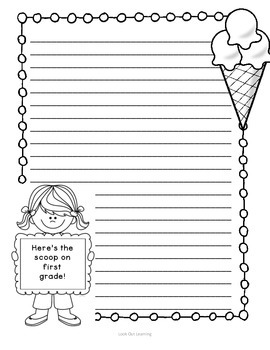 The Scoop on First: An Ice Cream Themed End of Year Writing Activity