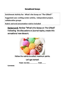 The Scoop on the Gifted Enrichment Project