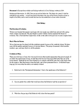 The Scopes Trial Document Based Questions