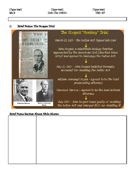 The Scopes Trial: The Theory of Evolution vs. Creationism