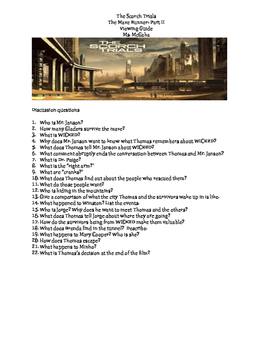 The Scorch Trials Viewing Guide