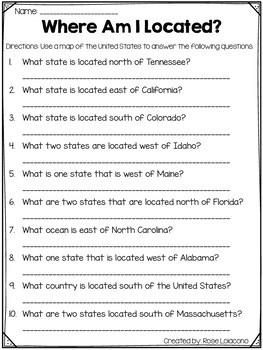 The Scrambled States of America- Activities to go with the book