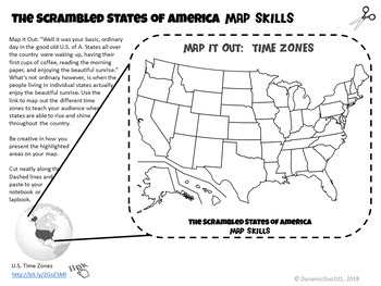 The Scrambled States of America Interactive Notebook Activities with Test Prep