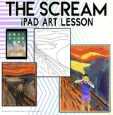 The Scream - Halloween iPad Tech Integration Art Project