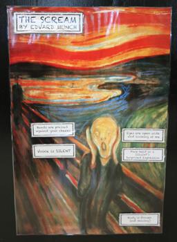 The Scream -Silent Scream Poster Labels