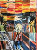 The Scream by Edvard Munch JK-Grade 8 Mixed Media Art Piece