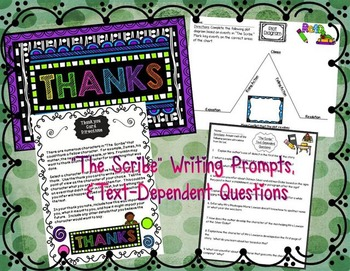"""""""The Scribe"""" by Kristin Hunter: Resources-Gr.Org, Writing, Text-Dependent ?'s"""