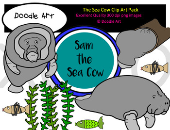 The Sea Cow Clipart Pack