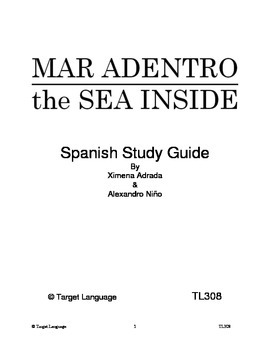 The Sea Inside-Spanish Study Guide