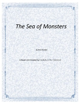 The Sea of Monsters Novel Unit Plus Grammar