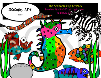 The Seahorse Clipart Pack