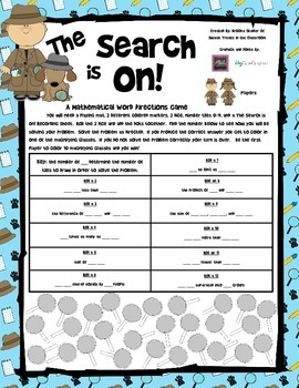 The Search is On! - A Math Word Expression Game