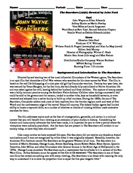 The Searchers Film (1956) Study Guide Movie Packet