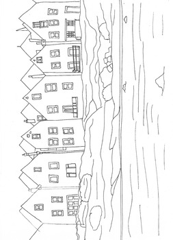 The Seaside: Colouring Worksheet Number Two