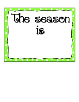 The Season is... Calendar Packet Accessory