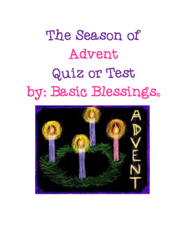The Season of Advent Quiz or Test