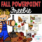 The Season of FALL PowerPoint FREEBIE