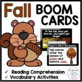 The Season of Fall BOOM CARDS™ for Distance Learning (digi