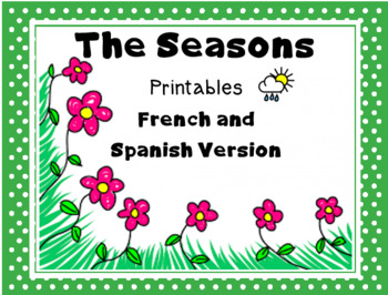 The Seasons - A French and Spanish Review/Assessment Printable