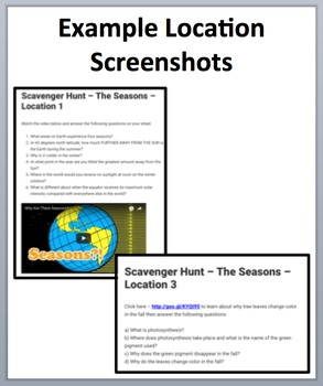 The Seasons - Device-Based Scavenger Hunt Activity - Let the Hunt begin!