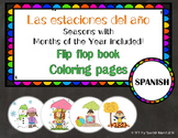 The Seasons, Las Estaciones del Año {Flip flop book/Coloring pages}