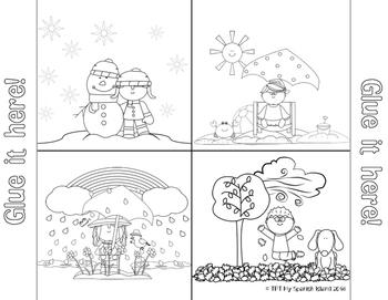 The Seasons, Las Estaciones del Año {Flip flop book/Coloring pages}