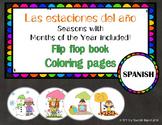 The Seasons, Las Estaciones del Año {Flip flop book/Colori