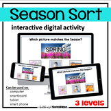 The Seasons Sort interactive digital activity