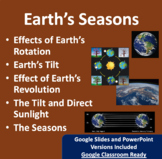 The Seasons and Earth's Tilt Lesson - Google Slides and Po