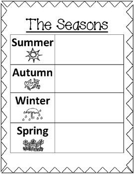 The Seasons and Months Maths OR English activity worksheet ...