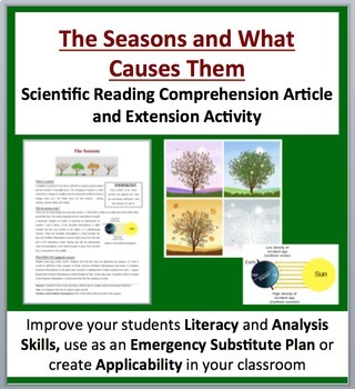 The Seasons and What Causes Them - Science Reading Article - Grades 5-7