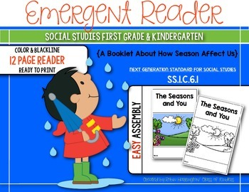 The Seasons and You {Social Studies Reader} for First Grad