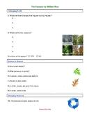 The Seasons by William Rice: Reading comprehension & vocabulary worksheets