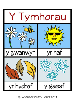 The Seasons in Welsh (2 SETS)