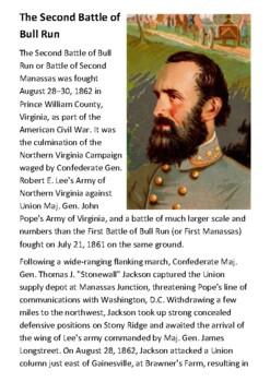 The Second Battle of Bull Run Handout