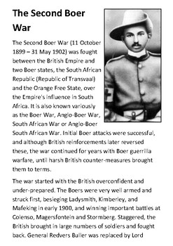 The Second Boer War Handout