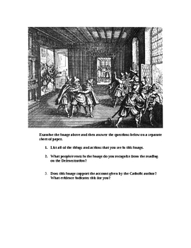 The Second Defenestration of Prague: Primary Source Activities
