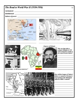 The Second World War - 21 Day Unit - PowerPoint & Activities